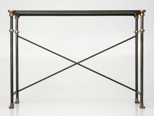 Custom Steel & Bronze Console Table Base