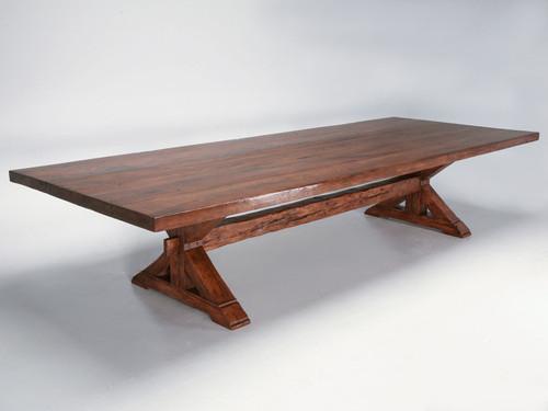 Custom Monumental Solid Oak 12 Foot Farm Table Main