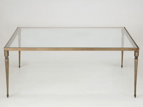 Custom Bronze Square Coffee Table Base Front