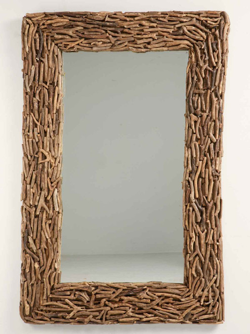 """61 x 39"""" Large Scale Driftwood Mirror"""