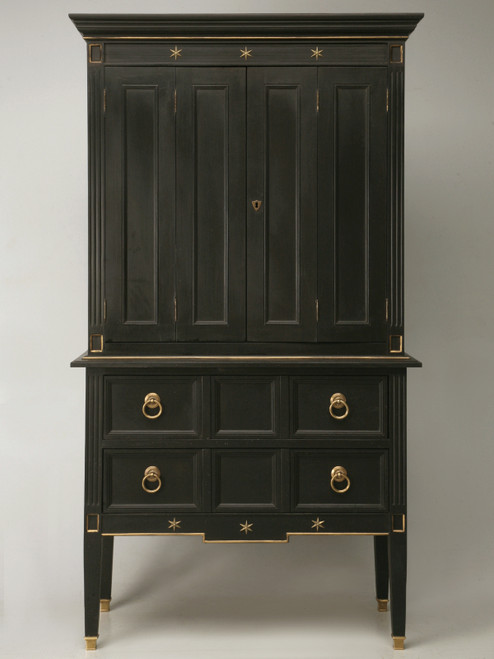 Custom Jacques Adnet Style Cupboard/Bar Cabinet