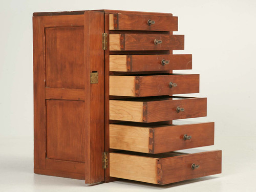 Specimen Cabinet from England Side Drawers Open