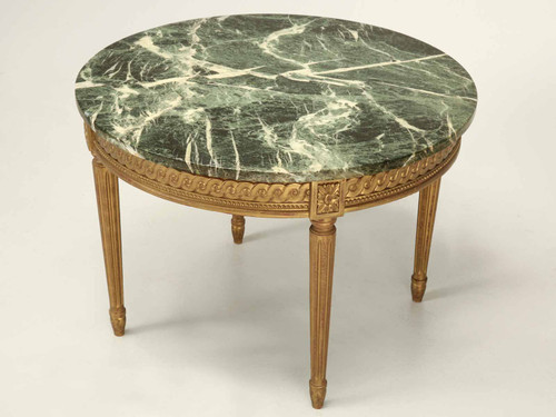 French Louis XVI Style Coffee Table Tilted Angle