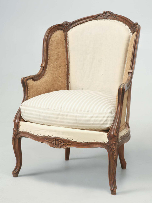 Antique French Louis XV Style Chair, c.1880s Angled