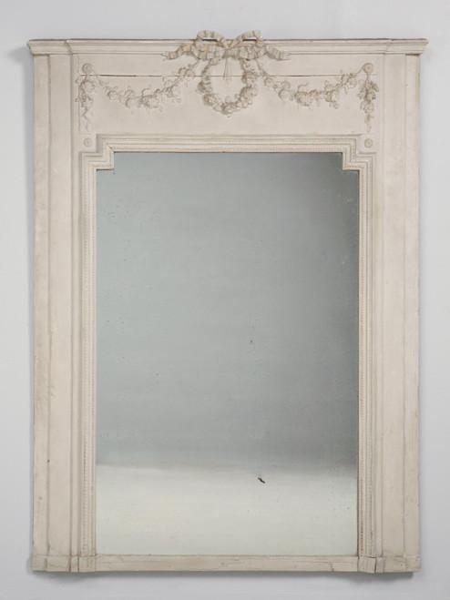 Antique French Mirror Original Glass & Paint