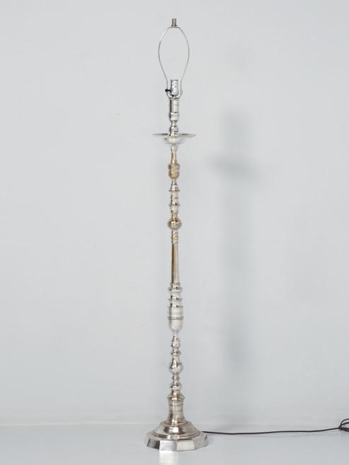 Nickel-Plated Vintage French Floor Lamp