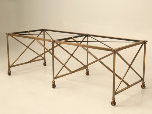 French Industrial Brass Kitchen Island Made to Order