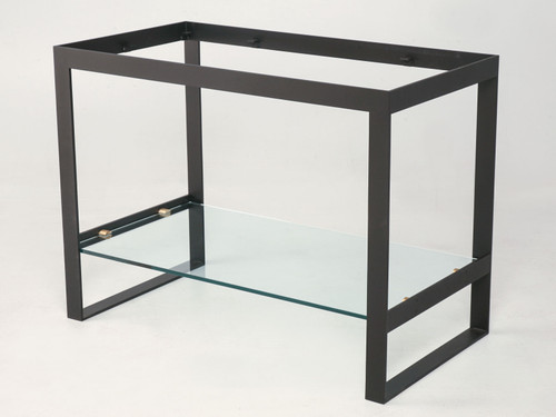 Custom Built Steel and Glass Console Table