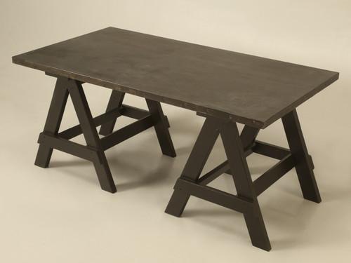 Industrial Zinc Top Desk or Kitchen Table Main