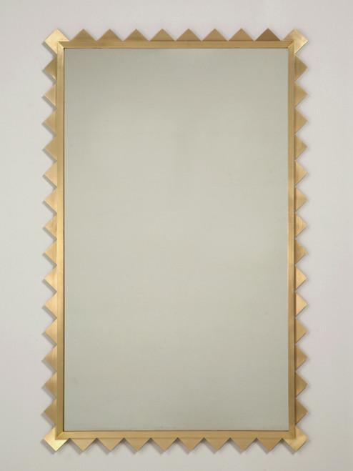 Brass Shark Tooth Mirror
