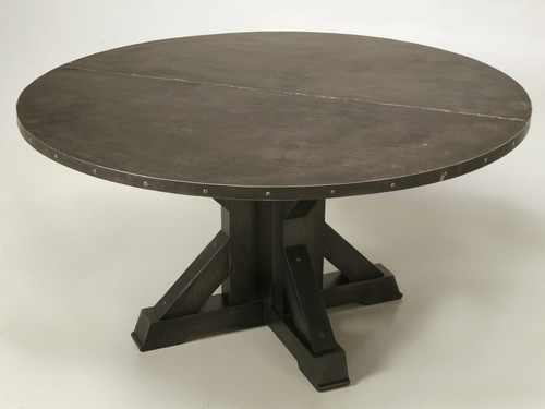 French Inspired Zinc Dining Table Main