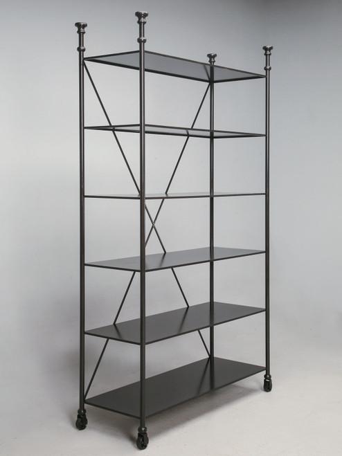 Custom Built Steel Directoire Style Bookcase