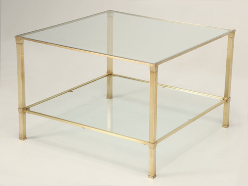 French Mid-Century Modern Side or End Table Angled Tilted