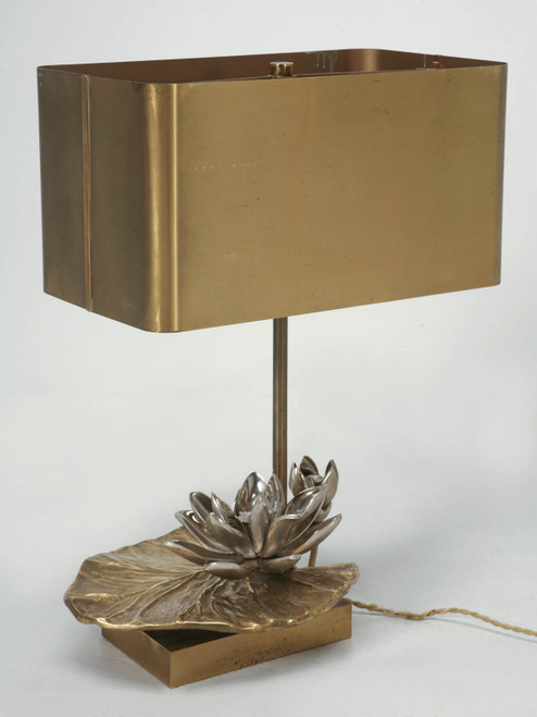 """Maison Jansen """"Water Lily"""" Lamp in Doré Bronze Angled"""