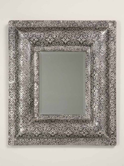 Silver and Black Frame with Mirror