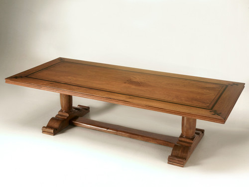 Vintage French Walnut Trestle Dining Table Main