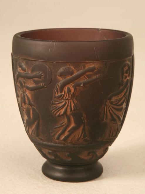 Signed Georges de Feure Molded Glass Vase