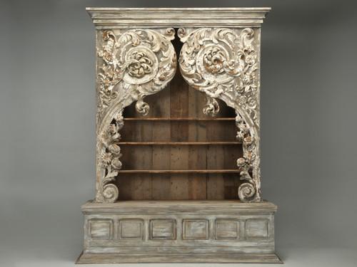 Antique Italian Rococo Bookcase or Cabinet Front