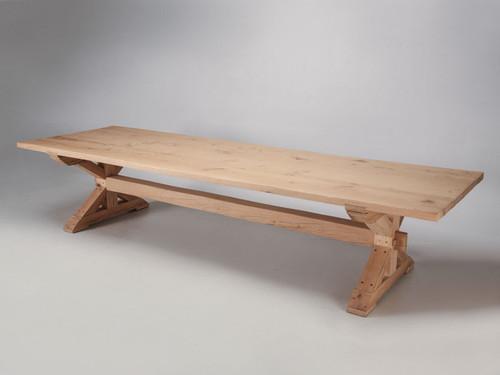 Custom Made Farm Table in French White Oak Main