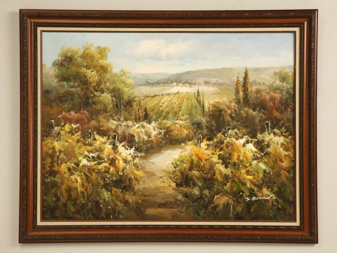 Decorative Vineyard Oil Painting