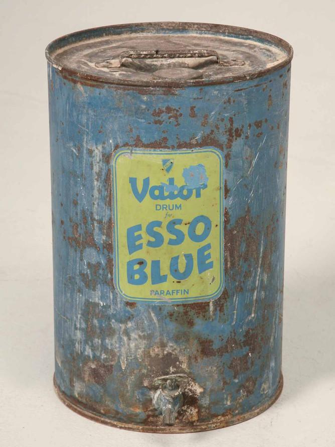 Vintage English Esso Blue Paraffin Can