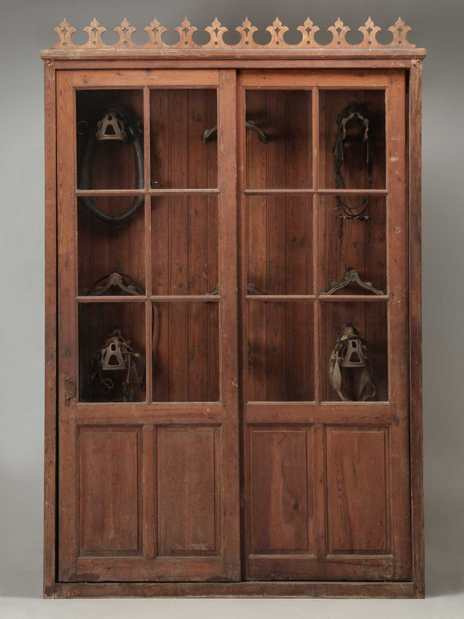 French Tack Cabinet or Potential Bookcase Front