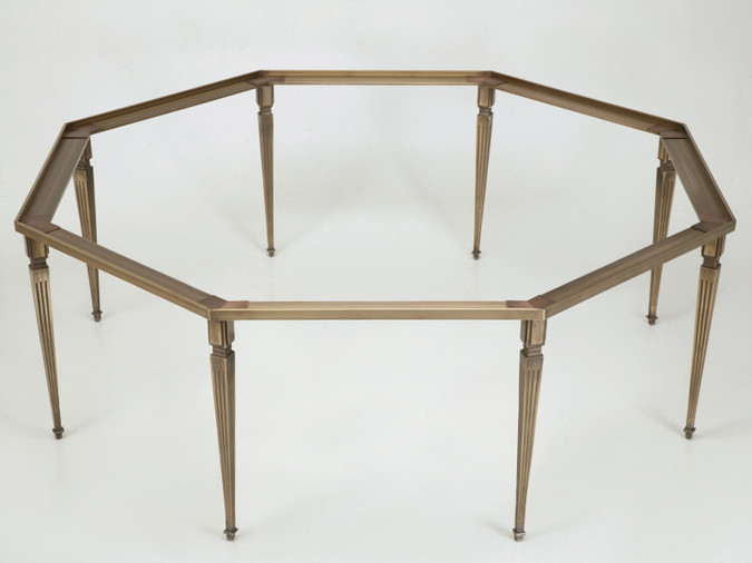 Custom Bronze Coffee Table Base Front View