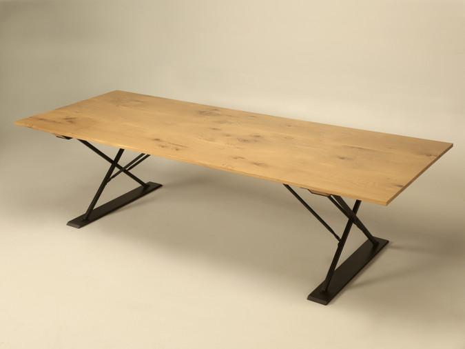 Custom Industrial Style Dining Table Main