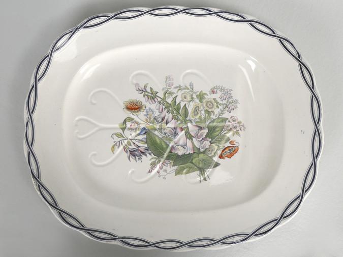 Meigh Very Large Turkey Platter, circa 1851-1861