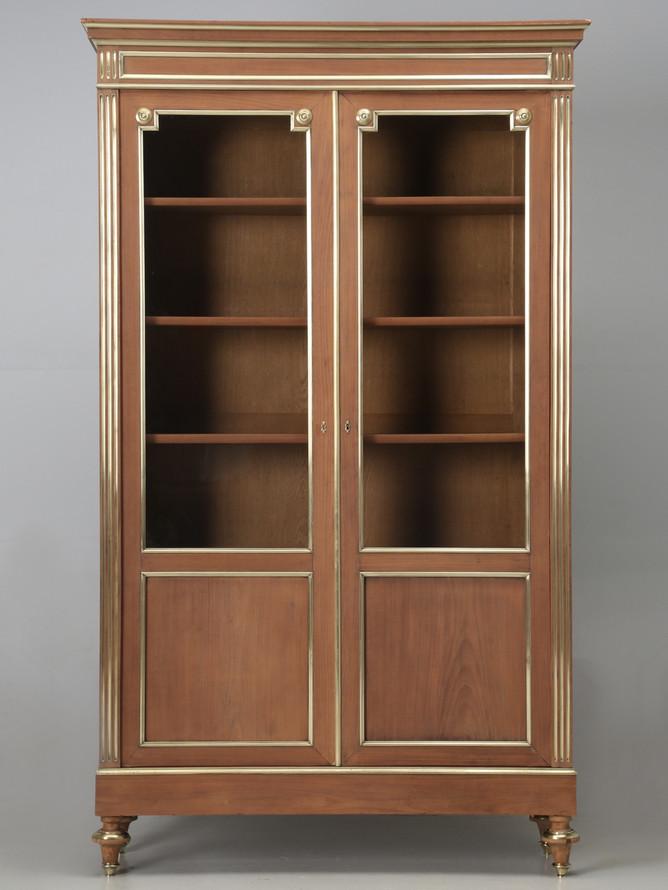 Antique French Louis XVI Mahogany Bookcase