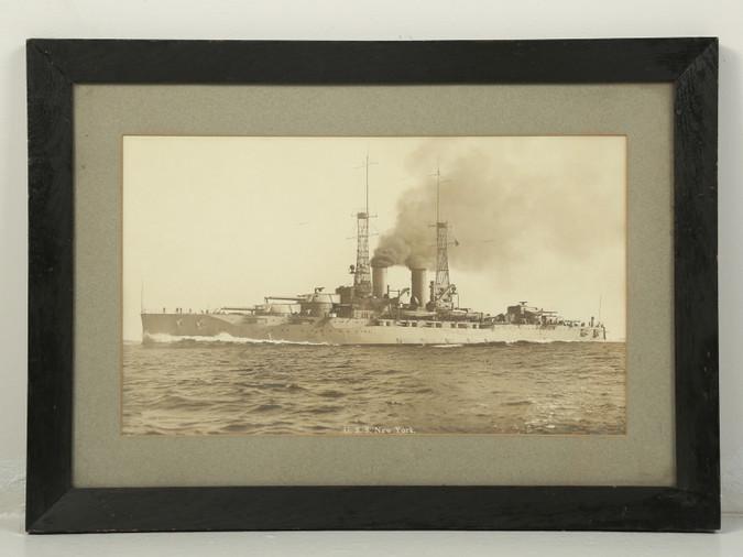 Photograph of the USS New York Naval Battleship