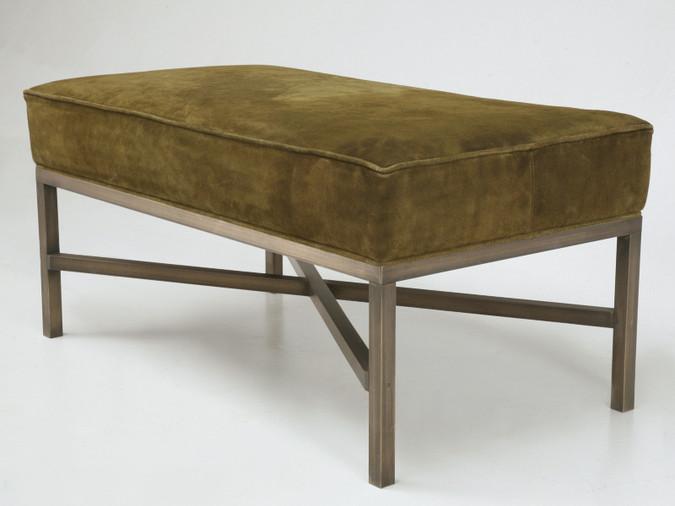 Custom Bronze Bench or Ottoman Angled