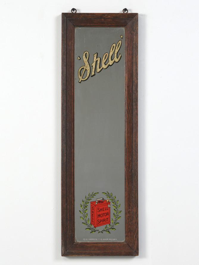 Shell Oil Advertising Mirror circa 1930's