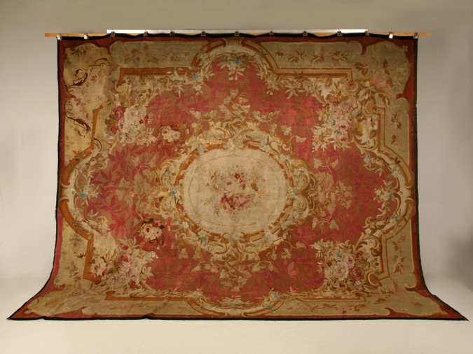 c.1830 Antique French Aubusson 12' X 14' Rug