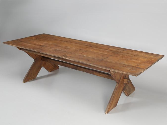 Custom American Sawbuck Design Dining Table Main