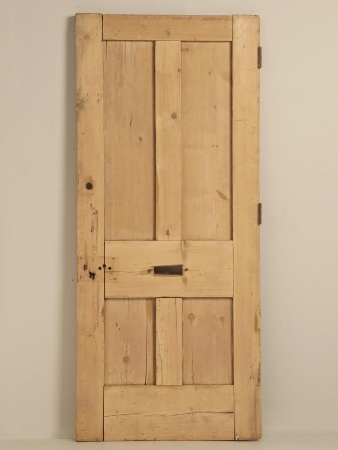 Antique Irish Pine Scrubbed Exterior Door