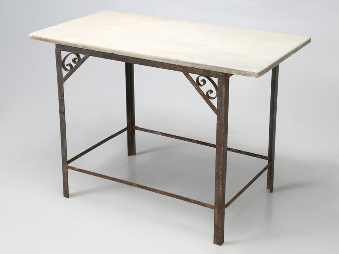Antique French Industrial Work Table or Island