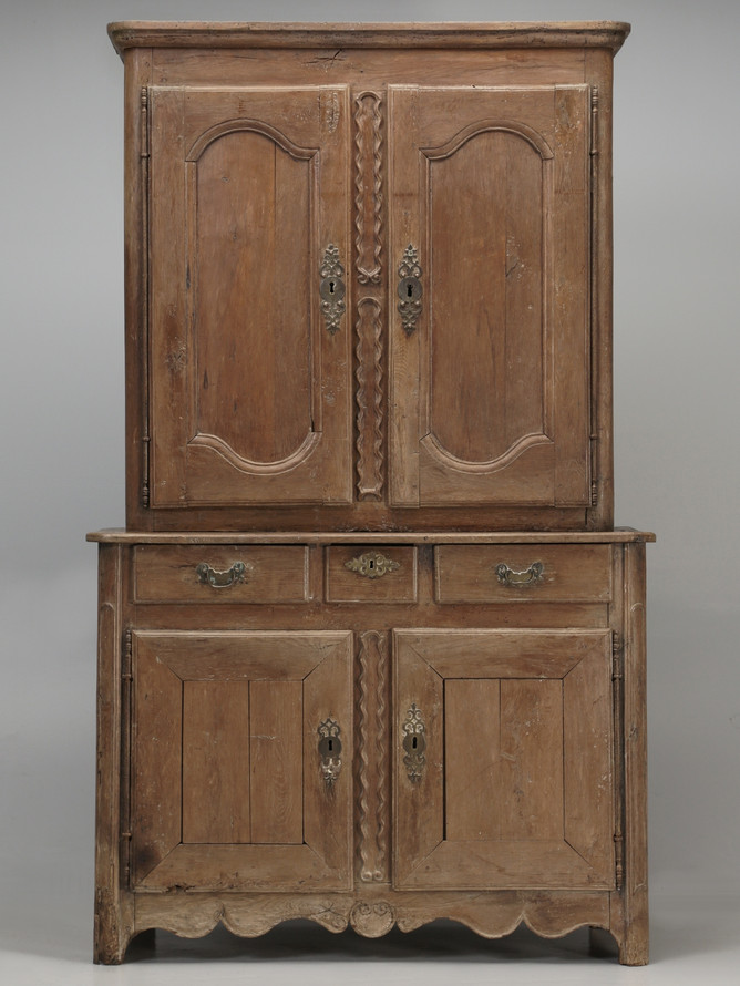 Antique French Deux Corp (Cupboard) in Original Finish Front