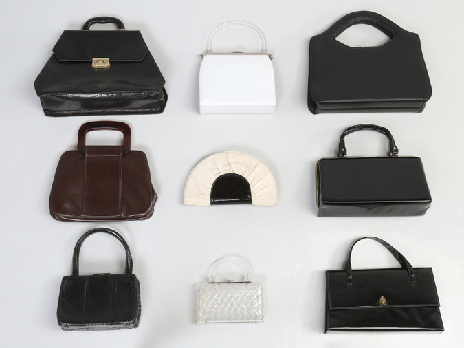 Collection of (9) vintage purses