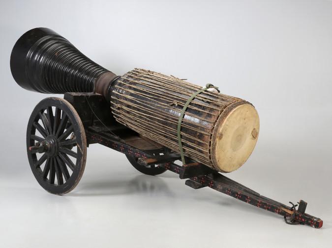 Antique Thai Buddhist Temple Goblet Drum