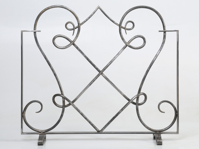 Hand-Forged Steel Fireplace Screen