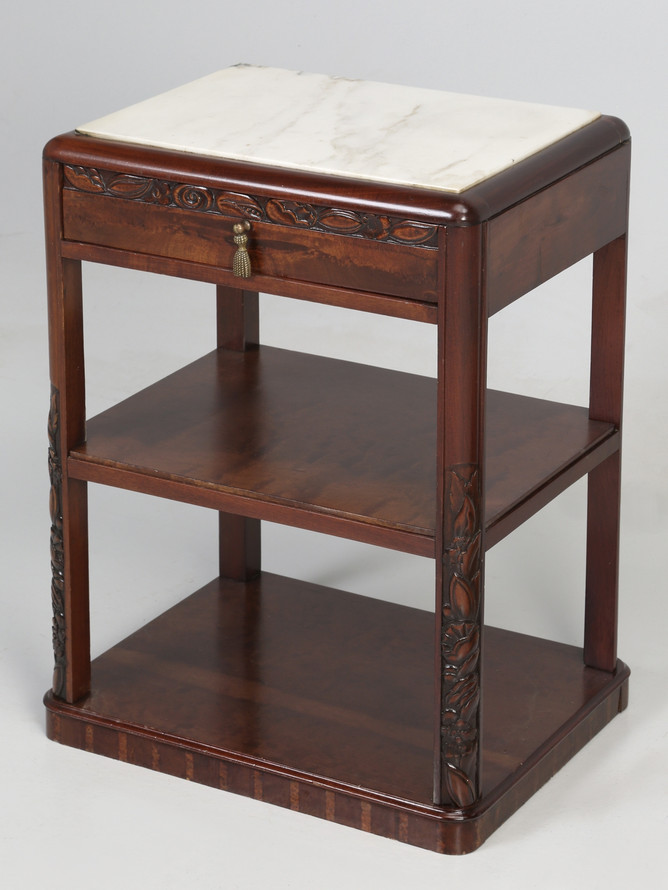 Vintage American Mahogany End Table Angled Left