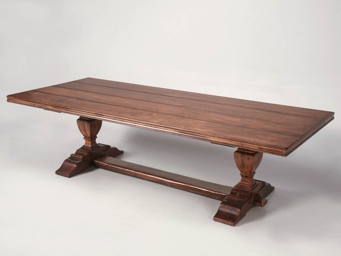 Custom Made French Style Trestle Dining Table Main