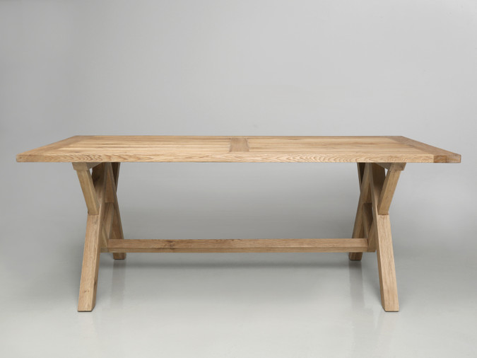 California White Oak Dining or Kitchen Table Front