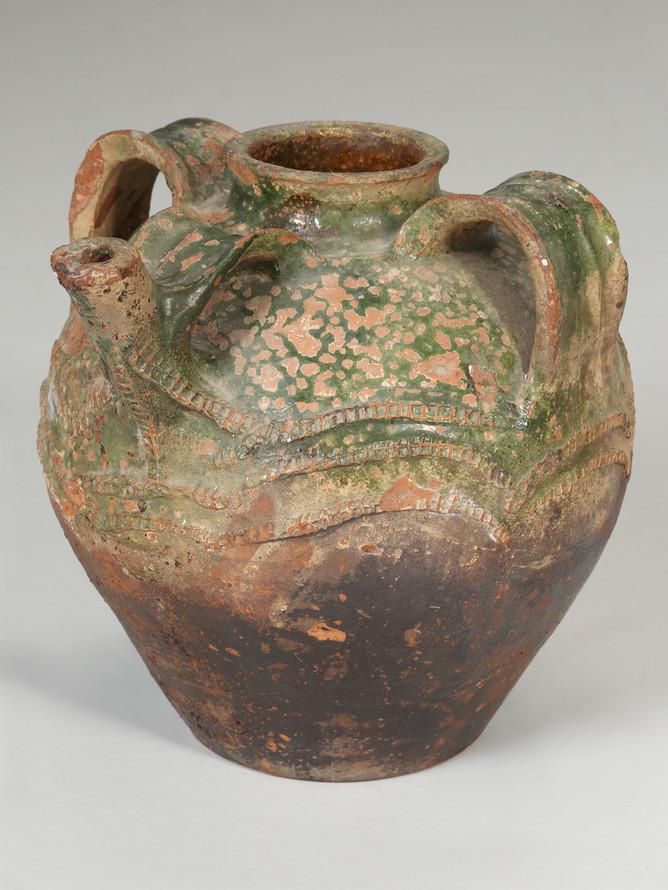 Antique French Walnut Oil Jar Main