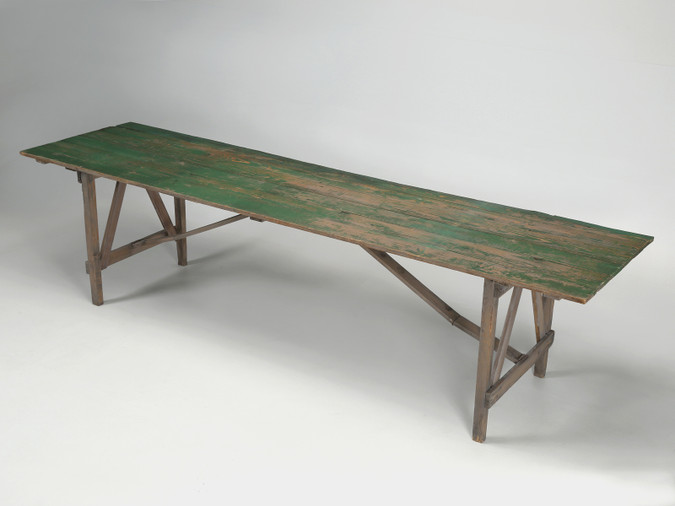 Rustic Northern Wisconsin Farm Table Angled Right