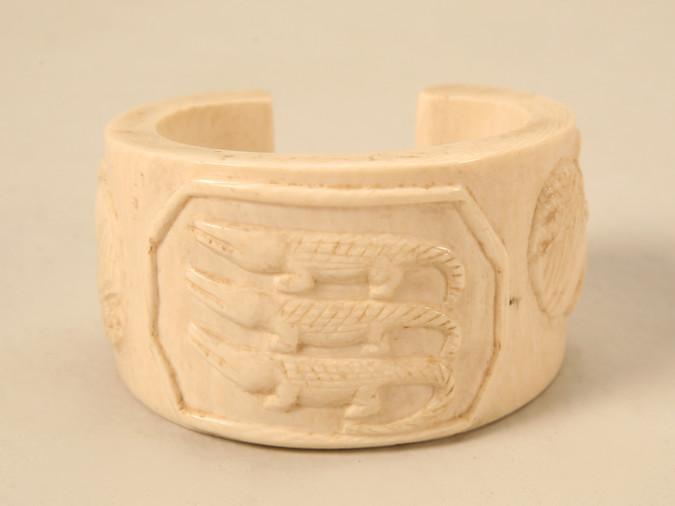 Original Antique Ivory Tribal Cuff Bracelet