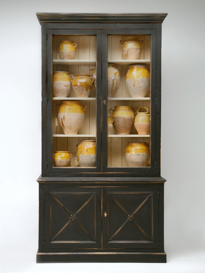 Custom Directoire Style Painted Bookcase Front