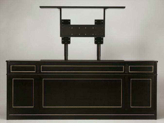 Maison Jansen Inspired Louis XVI Style TV Lift Console Front Lift Open