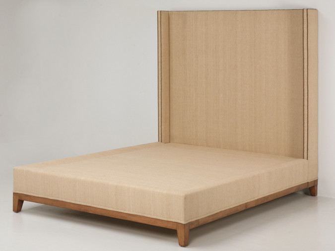 Custom Made Upholstered Bed w/ Nail Heads